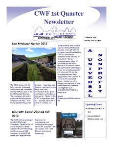1st Quarter Newsletter 2013 Image